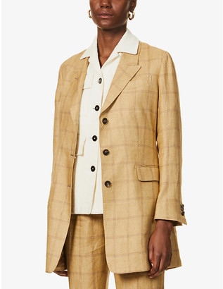 Giuliva Heritage Collection Karen checked linen blazer