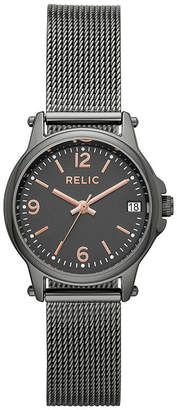 Fossil RELIC BY Relic By Matilda Mesh Womens Gray Stainless Steel Bracelet Watch-Zr34561