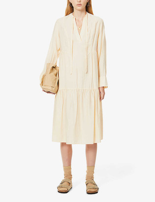 Vince Tiered woven midi dress