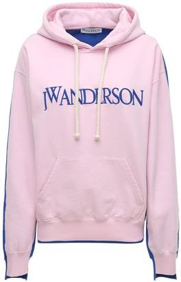 J.W.Anderson Logo Cotton Jersey Fleece Hoodie