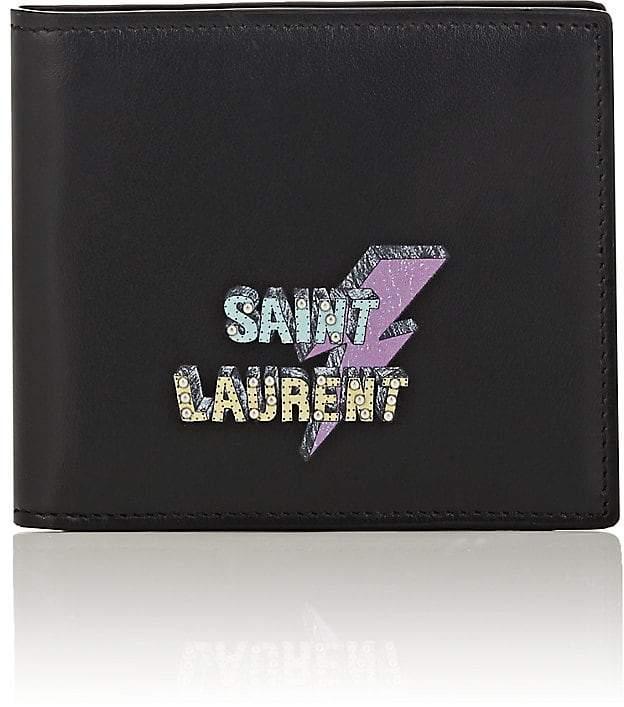 Saint Laurent Men's Logo Leather Billfold