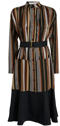 Palmer Harding Palmer//Harding Striped Leuca Shirt Dress