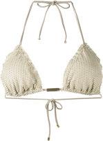 Vix Paula Hermanny textured triangle bikini top - women - Polyamide/Polyester/Spandex/Elastane - S