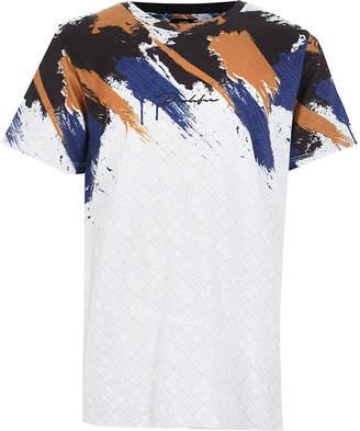 River Island Boys white Prolific print T-shirt