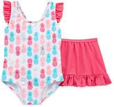 Asstd National Brand Pattern One Piece Swimsuit Toddler Girls