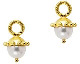 Elizabeth Locke 19K Yellow Gold & 8-8.5MM White Pearl Drop Earring Charms