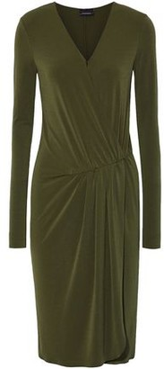 By Malene Birger Willos Wrap-effect Stretch-crepe Dress