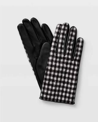 Club Monaco Claudia Check Leather Glove