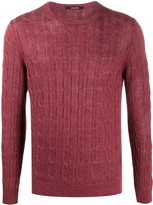 Tagliatore Cable-Knit Slim-Fit Jumper