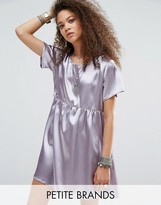 Glamorous Petite Oversized Satin Skater Dress