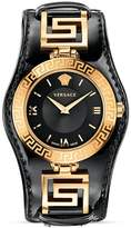 Versace Signature Rose Gold & Black Dial Watch, 35mm