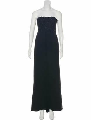 Valentino Embellished Evening Dress Black