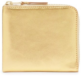 Comme des Garcons Zip-around Leather Wallet - Gold