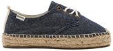 Soludos Oxford Lace Up Platform in Navy. - size 7.5 (also in 8.5,9.5)