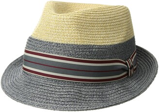 Bailey Of Hollywood Men's Rokit Braided Fedora Trilby Hat with Stripe Band