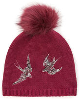 Oasis Swallow Embroidered Beanie
