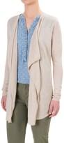 Tahari Linen Cardigan Sweater - Open Front (For Women)
