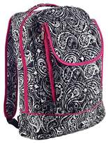 "Household Essentials Carolina Pad 17"" Studio C Fresh as a Paisley Backpack - Black/Pink"