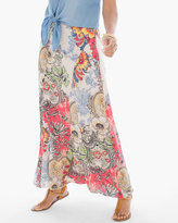 Chico's Patchwork Floral Maxi Skirt