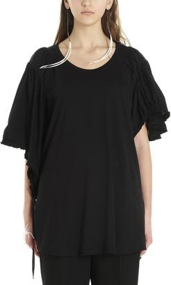 Ann Demeulemeester Ruched Asymmetric T-Shirt