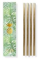 W&P Design W&P Gold Reusable Straws, Set of 4