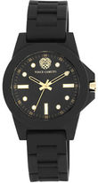 Vince Camuto Black Stainless Steel Silicone Strap Watch, VC-5280BKBK