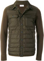 Moncler padded front shirt jacket