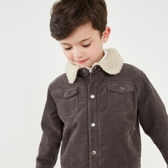 The White Company Fleece-Lined Cord Jacket (1-6yrs), Charcoal, 2-3yrs