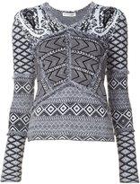 Altuzarra contrast panel knitted top