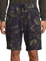 Vince Printed French Terry Sweat Shorts