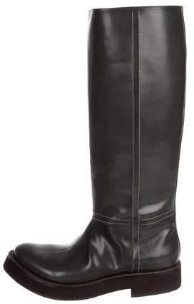 Brunello Cucinelli Monili-Trimmed Knee-High Boots