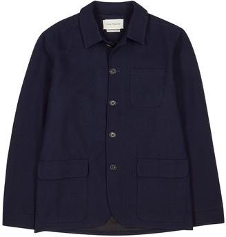 Oliver Spencer Navy Wool-blend Jacket