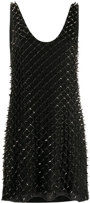 Balmain Studded Beaded Mini Dress