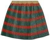 Gucci Glitter Pleated Skirt