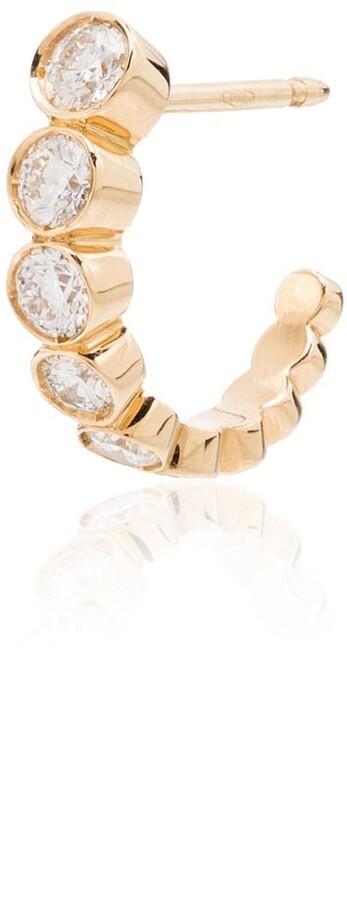 Sophie Bille Brahe 18kt yellow gold Boucle diamond single earring