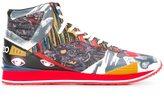 Kenzo multi icon hi-top sneakers