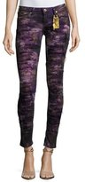 Robin's Jeans Marilyn Distressed Denim Jeans, Purple
