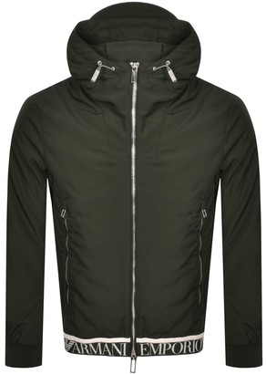 Giorgio Armani Emporio Full Zip Hooded Jacket Green