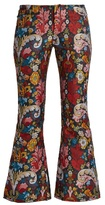 Marques Almeida MARQUES'ALMEIDA Floral-brocade cropped trousers