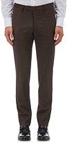 Incotex Men's S-Body Slim-Fit Wool Trousers-BROWN
