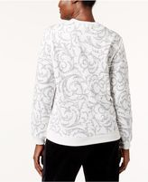 Karen Scott Petite Scroll-Print Sweatshirt, Created for Macy's
