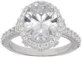 Judith Ripka Sterling Silver Diamonique Engagement Ring