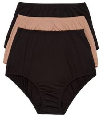 Olga Womens Without A Stitch Microfiber Brief 3-Pack Style-23173J