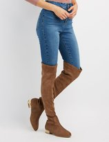 Charlotte Russe Pearl Detail Over-The-Knee Boots