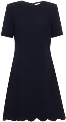 Goat Jolie Scalloped Wool-crepe Mini Dress