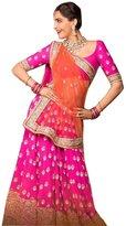 Fab Glory® Fab Glory Women's Lifestyle Women's Net Lehenga Choli (Semi-Stitched)