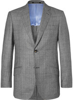 Richard James Grey Seishin Checked 150s Wool Suit Jacket