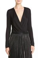 Diane von Furstenberg Women's Lala Long Sleeve Bodysuit