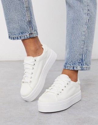 Asos Design DESIGN Day light chunky flatform lace up sneakers