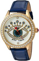 Betsey Johnson Women's Quartz Metal and Leather Automatic Watch, Color:Blue (Model: BJ00517-35)